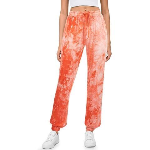 Women High Waisted Jogging Sweatpants Lounge Yoga Pants with Pockets