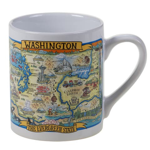 Certified International Washington Souvenir Jumbo Mugs (Set of 6)