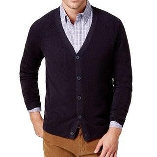Weatherproof Black Mens Size Medium M Texture Cardigan Sweater