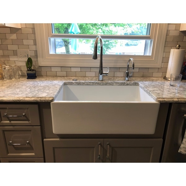 Highpoint White Fireclay 30 Inch Farm Sink Free Shipping Today 5036490