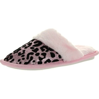 Static Footwear Girls Cute Fashion Prints Open Back Comfy House Slippers