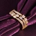 Gold Circular World Fusion Ring - Thumbnail 2