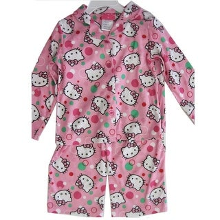 Hello Kitty Girls Pale Pink Kitty Dot Print 2 Pc Pajama 8-10