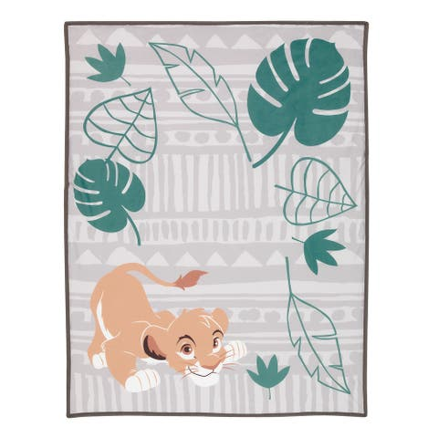 Lambs & Ivy Disney Baby THE LION KING Picture Perfect Sherpa Baby Blanket