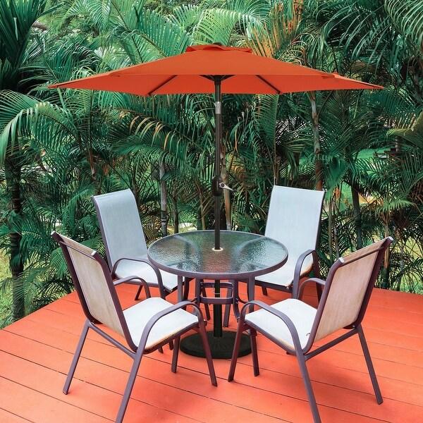 Bonosuki 7.5ft Patio Umbrella Waterproof Sunshade Canopy. Opens flyout.