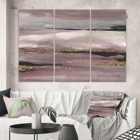 Porch & Den 'Purple Glam Storm III' Glam & Shabby Chic Canvas Wall Art