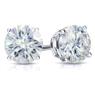 Link to Auriya 1 1/2ctw Round Moissanite Stud Earrings 14k Gold 4-Prong Basket - 5.9 mm Similar Items in Earrings