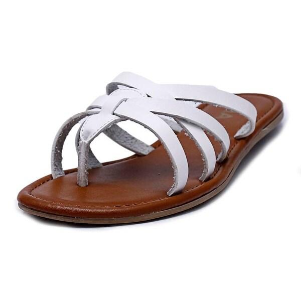 Shop Mia Danielle Women Open Toe Leather White Thong