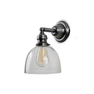 """JVI Designs 1210 S5-CB Union Square 1 Light 7"""" Wall Sconce with Clear Hand Blown Seedy Glass Shade"""