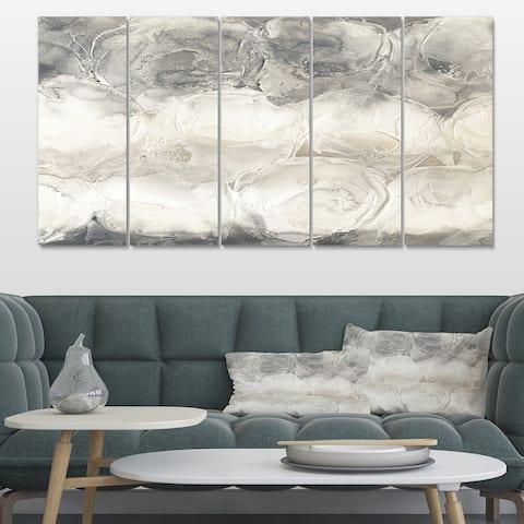 Designart 'Gray Circles I' Modern & Contemporary Premium Canvas Wall Art
