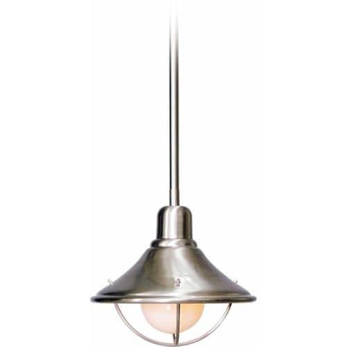 "Volume Lighting V3121 1 Light Down Light 7.5"" Height Pendant with Brushed Nickel"