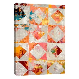 """PTM Images 9-105483  PTM Canvas Collection 10"""" x 8"""" - """"Triangular Configurations 2"""" Giclee Abstract Art Print on Canvas"""