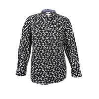 Charter Club Women's Plus Size Bow-Print Shirt (20W, Deep Black Combo) - deep black combo - 20W