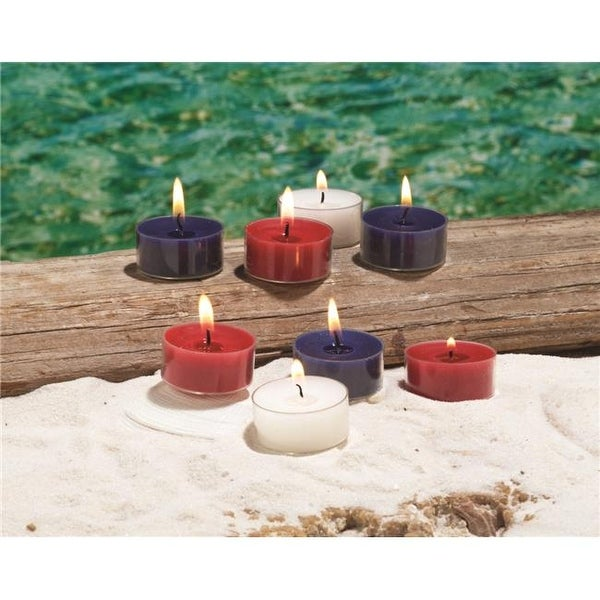 Shop Red White Blue Citronella Tealight Pack Of 12 Free