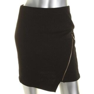 Kensie Womens Asymmetrical Skirt Textured Pull On