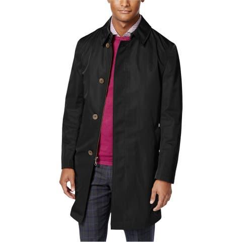 Calvin Klein Mens Melford Raincoat, Black, 42 Long
