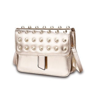 London Inspired Metallic Tone Studded Clutch