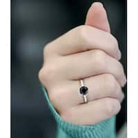 Prism Jewel 1.00 Carat Black Diamond Six Prong Engagement Solitaire Ring