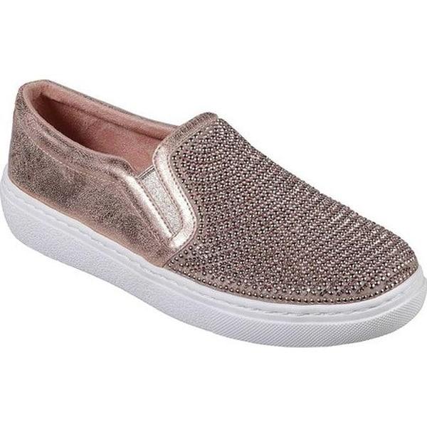 a23de3d665fc Shop Skechers Women s Goldie Shiny Shaker Slip-On Sneaker Rose Gold ...