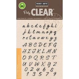 "Hero Arts Clear Stamps 4""X6""-Brushstroke Alphabet"