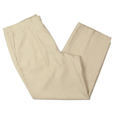 Alfred Dunner Womens Plus Straight Leg Pants Textured Pull On
