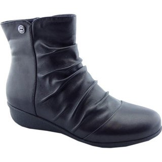 Drew Women's Cologne Ankle Boot Black Leather