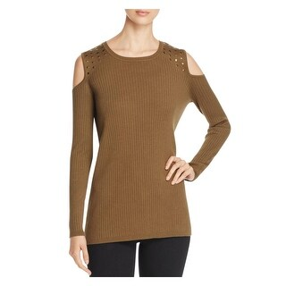 Love Scarlett Womens Casual Top Long Sleeves Cold Shoulder