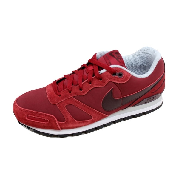 Nike Men's Air Waffle Trainer Leather Team Red/Deep Bergundy-Pure Platinum-White 454395-661