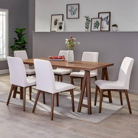 Orrin Mid-Century Modern 7 Piece Dining Set with A-Frame Table by Christopher Knight Home