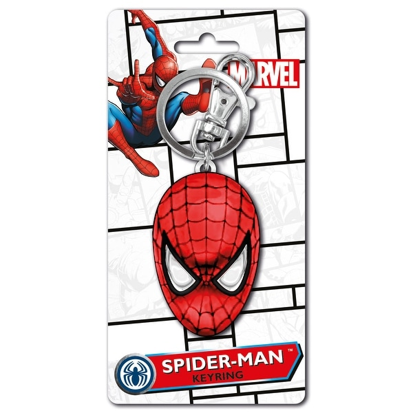 Marvel Spider-Man Head Colored Key Ring - Multi