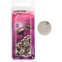 Hillman Fastener Corp 40Pc Nickel Thumb Tack 122670 Unit: EACH