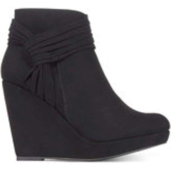 Thalia Sodi Womens Chelaa Fabric Closed Toe Ankle Fashion Boots