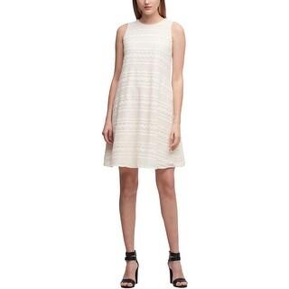 DKNY Womens Mini Dress Chiffon Sleeveless