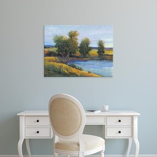 Easy Art Prints Tim OToole's 'Tree's Reflection II' Premium Canvas Art