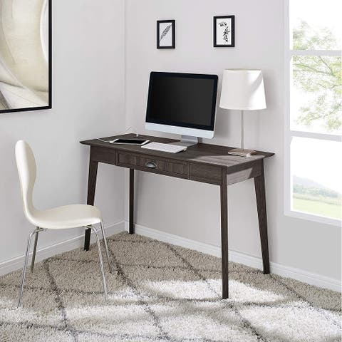 Caffoz Home Office Modern Writing Desk with Drawer and USB Hub