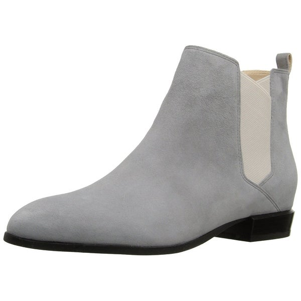 Nine West Womens doloris Leather Pointed Toe Ankle Chelsea Boots