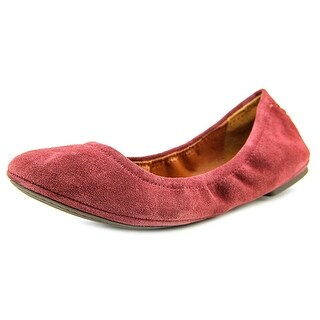Lucky Brand Emmie W Round Toe Suede Ballet Flats