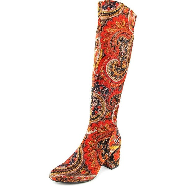 Diba Brodie Women Round Toe Canvas Multi Color Knee High Boot