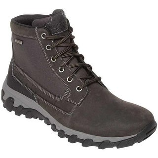Rockport Men's Cold Springs Plus Mid Combat Boot Grey Leather