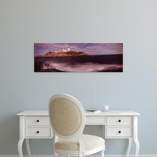 Easy Art Prints Panoramic Images's 'Lighthouse on the coast, Nubble Lighthouse, York, York County, Maine' Canvas Art