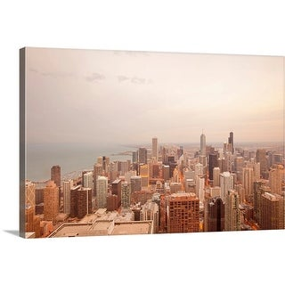 """""""Overview of Downtown, Chicago, Illinois, USA"""" Canvas Wall Art"""