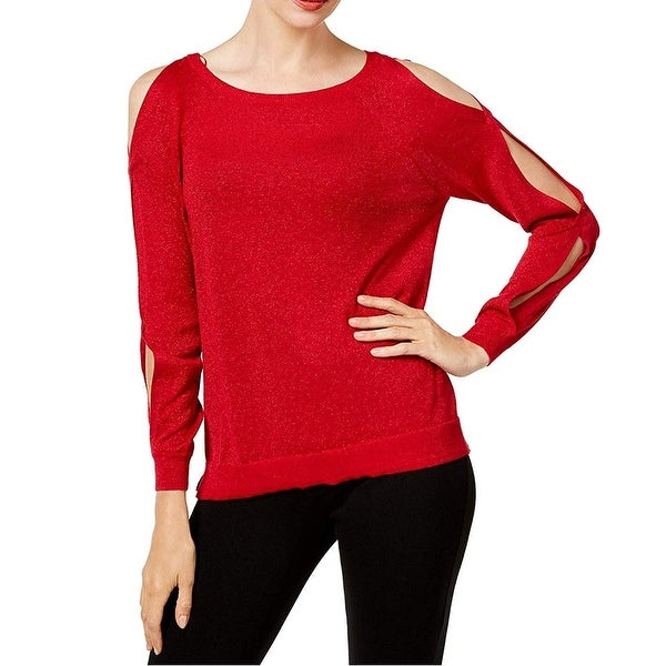 Vince Camuto Radiant Red Women's Size Small S Cold Shoulder Sweater