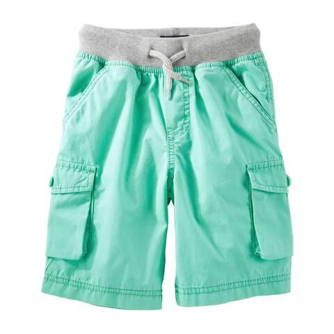 OshKosh B'gosh Baby Boys Pull On Cargo Shorts - Turquoise- 12 Months