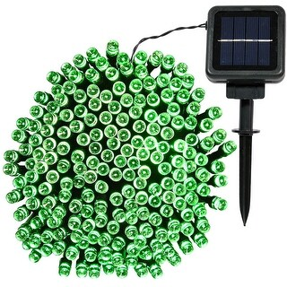 Sunnydaze LED Solar Powered String Lights, 200-Count LEDs - Set of 2 - Multiple Colors Available