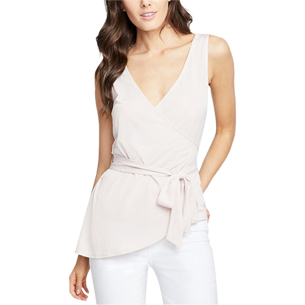 Rachel Roy Womens Crossover Wrap Blouse