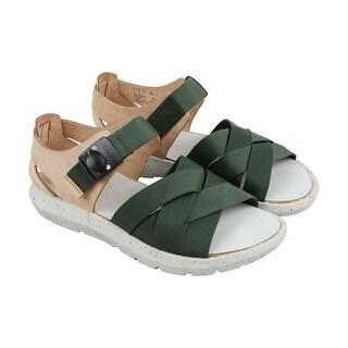 Clarks Jacala Strap Mens Green Synthetic Flip Flops Slip On Sandals Shoes