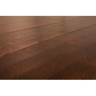 "SAMPLE Kanstar Engineered Hardwood - 24 sq. ft. Handscraped Maple Old West Collection Maple - Java / 6"" / 1/2"" / 9"""