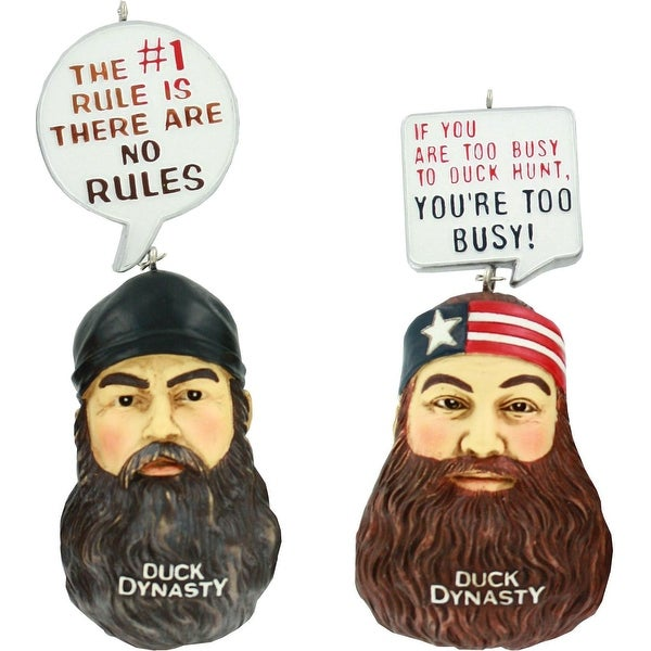 Duck Dynasty Ornament Set - Jase & Willie