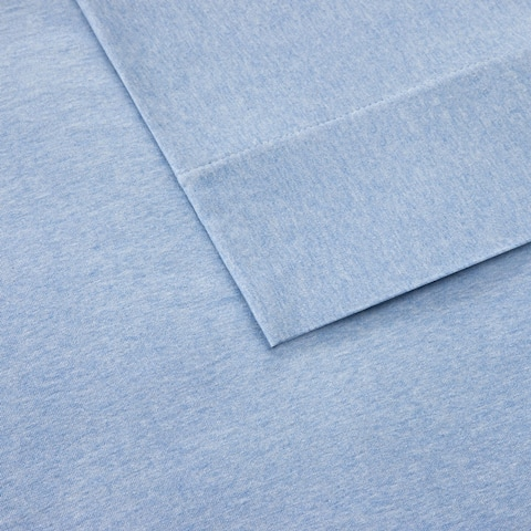 Carbon Loft Porta Cotton Jersey Knit Deep Pocket Heathered Bed Sheet Set