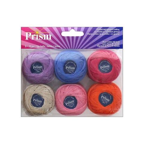 Prism Craft Thread Pearl Balls 10gram Solid 6pc